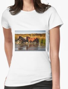 Wild Ponies Womens Fitted T-Shirt