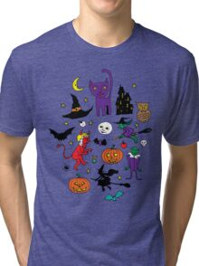 Retro Halloween Tri-blend T-Shirt