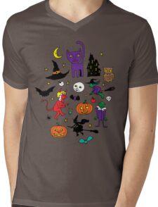 Retro Halloween Mens V-Neck T-Shirt