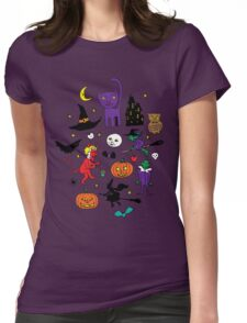 Retro Halloween Womens Fitted T-Shirt