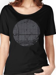 Buenos Aires city map engraving Women's Relaxed Fit T-Shirt