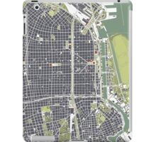 Buenos Aires city map engraving iPad Case/Skin