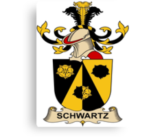 Schwartz Coat of Arms (Austrian) Canvas Print