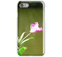 Pink Flower Over Water iPhone Case/Skin