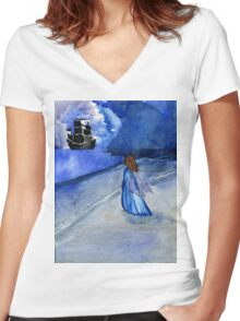Fairy of the Flying Dutchman Women's Fitted V-Neck T-Shirt