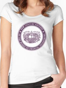 NCE logo purple Women's Fitted Scoop T-Shirt