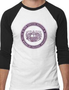 NCE logo purple Men's Baseball ¾ T-Shirt