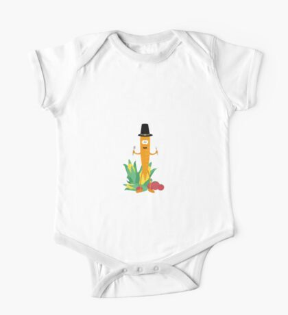 Thanksgiving Carrot with Vegetables One Piece - Short Sleeve