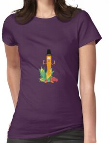Thanksgiving Carrot with Vegetables Womens Fitted T-Shirt