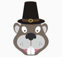 Thanksgiving Beaver One Piece - Short Sleeve