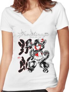 Miss Yagami Anime Rock Shirt Women's Fitted V-Neck T-Shirt