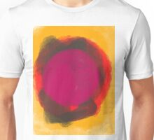 Abstract Composition with yellow and pink Unisex T-Shirt