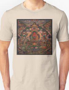 Buddha Amitabha in His Pure Land of Suvakti Unisex T-Shirt