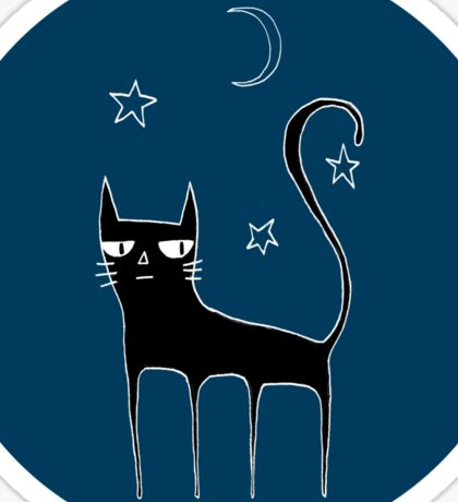 A Black Cat Sticker