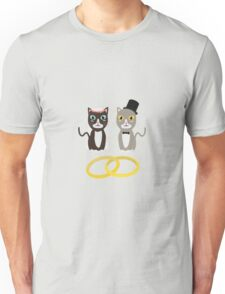 Wedding Cats with Rings Unisex T-Shirt