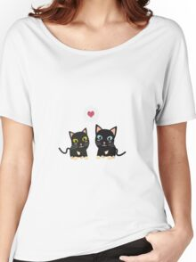 Cats in Love Women's Relaxed Fit T-Shirt