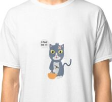 Construction Worker Cat Classic T-Shirt