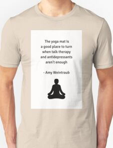 Yoga Mat and Therapy Unisex T-Shirt