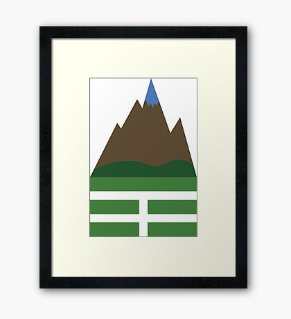 CHING: Gen, The Mountain Framed Print