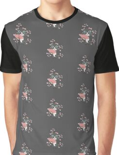 Japanese cat with cherry blossoms   Graphic T-Shirt