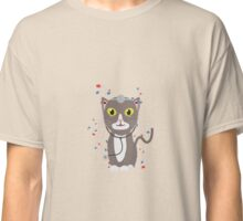 Cat with medical equipment   Classic T-Shirt