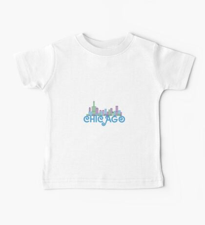 Chicago Skyline Baby Tee