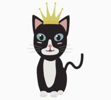 Cat with Crown   One Piece - Long Sleeve