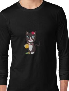 Hawaii cat with pineapple   Long Sleeve T-Shirt