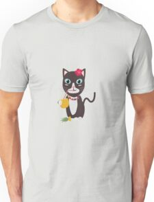Hawaii cat with pineapple   Unisex T-Shirt