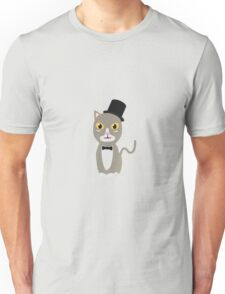 Gentleman cylinder cat   Unisex T-Shirt