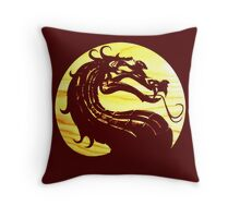 Mortal Kombat Dragon Throw Pillow