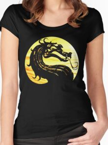 Mortal Kombat Dragon Women's Fitted Scoop T-Shirt