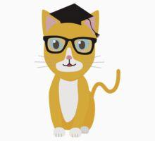 nerd geek cat Baby Tee
