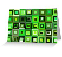 Green Blocks Greeting Card