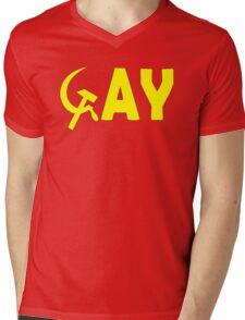 Homo and Sickle  Mens V-Neck T-Shirt
