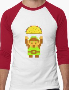 Link and a taco Men's Baseball ¾ T-Shirt