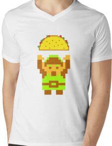 Link and a taco Mens V-Neck T-Shirt
