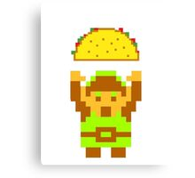 Link and a taco Canvas Print