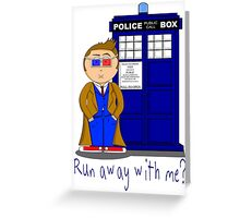 Run Away With Me? Doctor Who Greeting Card