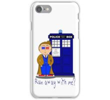 Run Away With Me? Doctor Who iPhone Case/Skin