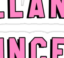 MELANIN PRINCESS | BLACK GIRL MAGIC QUOTE PRINT Sticker