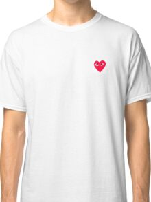 Red Heart Love T-shirt White Classic T-Shirt