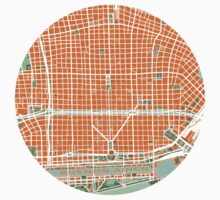 Buenos Aires city map orange Kids Tee