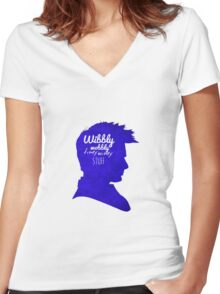 Wibbly Wobbly Timey Wimey Women's Fitted V-Neck T-Shirt