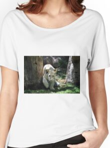 White lion cub Women's Relaxed Fit T-Shirt