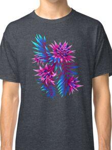 Fasciata Tropical Floral - Dark Blue/Pink Classic T-Shirt