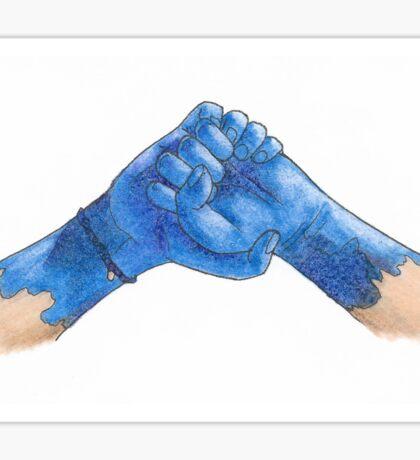 Blue Hands Sticker