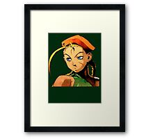 Cammy  streetfighter chick Framed Print