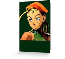 Cammy  streetfighter chick Greeting Card