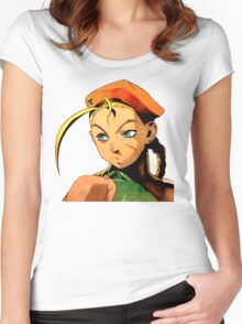 Cammy  streetfighter chick Women's Fitted Scoop T-Shirt